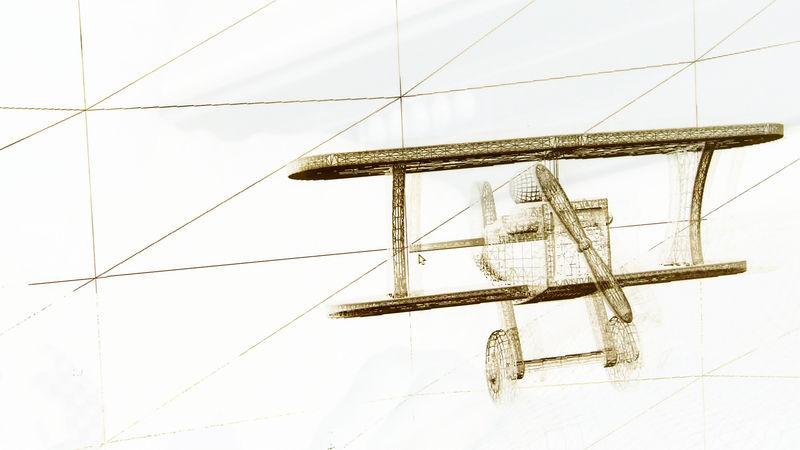 Maillage d'un biplan dans un projet de jeu vidéo